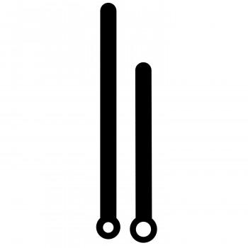 Комплект стрелок 264 black (75/55мм)
