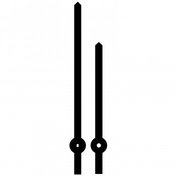 Комплект стрелок 031 black (132/98мм)