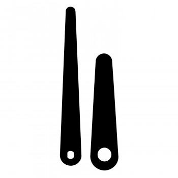 Комплект стрелок 110 black (79/55мм)