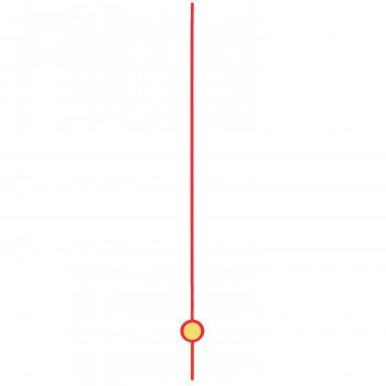 Секундная стрелка 30-0729-0000 red (80мм)
