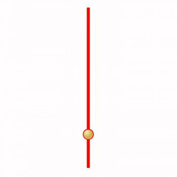 Секундная стрелка 28 red (40мм)