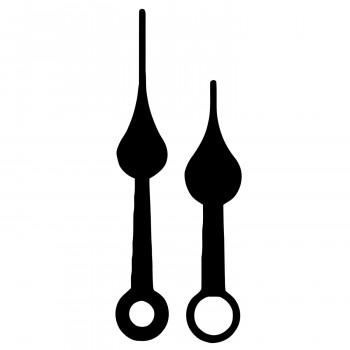 Комплект стрелок 3145 black (48/37мм)