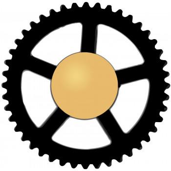 Заглушка 55 black (8мм)