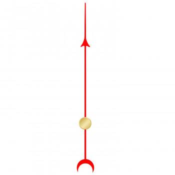 Секундная стрелка 6036 red (51мм)