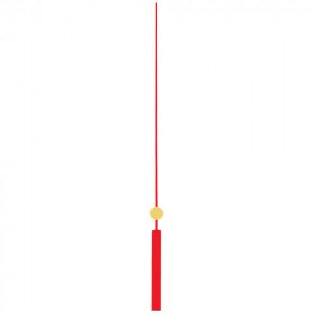 Секундная стрелка 6084 red (140мм)