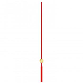 Секундная стрелка 677 red (100мм)
