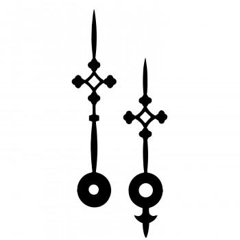 Комплект стрелок 746 black (82/60мм)