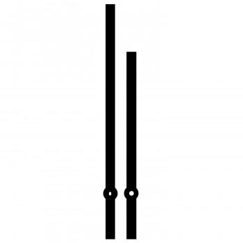 Комплект стрелок 9071 black (300/200мм)