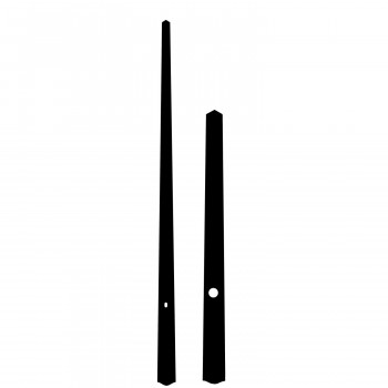 Комплект стрелок 966 black (212/154мм)
